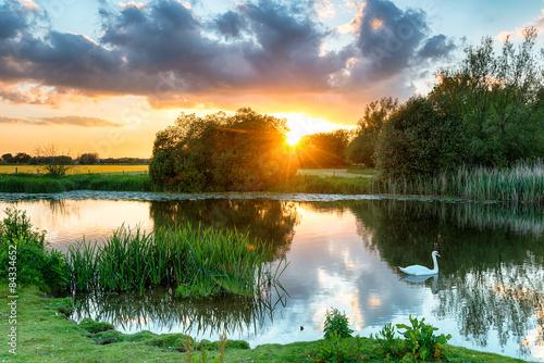 Foto auf AluDibond Fluss Wimborne River