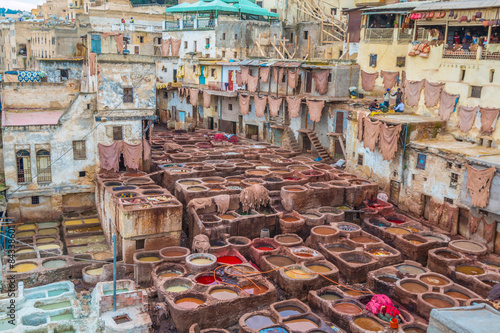 Fotomural  The Tannery in Fez Morocco