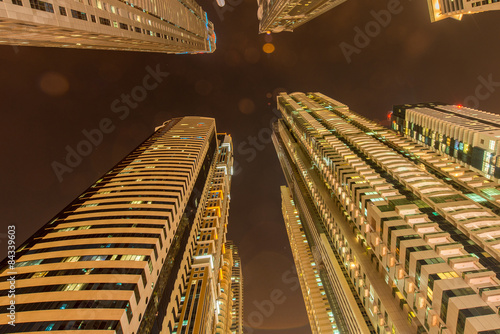 Photo  Tall residential buildings in Dubai