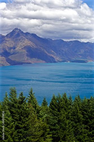 Poster Nouvelle Zélande Blick Lake Wakatipu von Queenstown Hill, Neuseeland