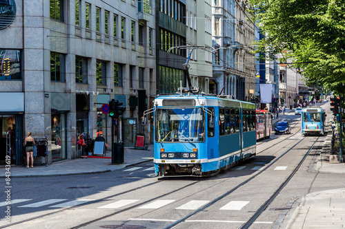 Modern tram in Oslo, Norway