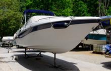 Small Pleasure Boat In A Repai...