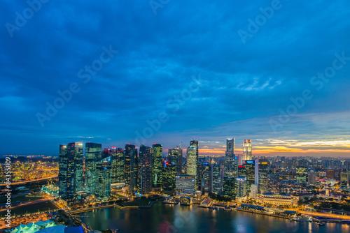 Fototapety, obrazy: Panorama of Singapore skyline downtown