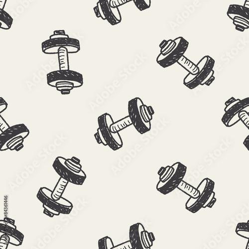 hantle-fitness-doodle-tlo-wzor