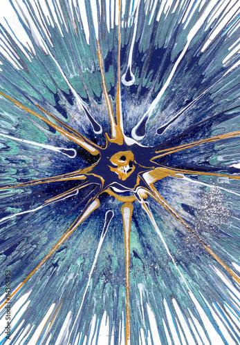 Plakat ekspresyjne malarstwo abstrakcyjne przedstawiające Kasjopeję