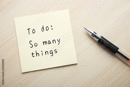 So many things to do Poster