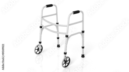 Rolling walker isolated on white background Wallpaper Mural
