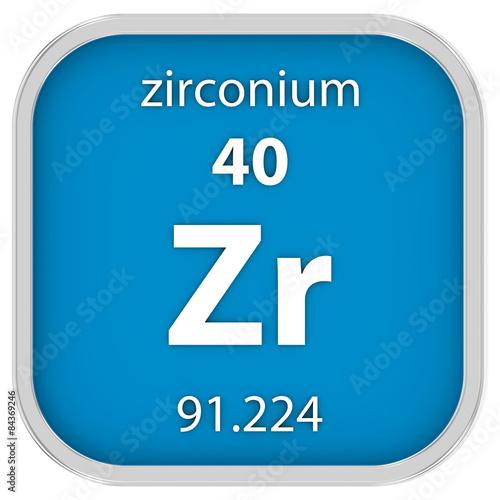 Valokuva  Zirconium material sign