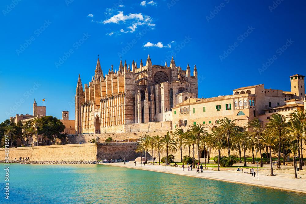 Fototapety, obrazy: Cathedral La Seu and Parc del Mar
