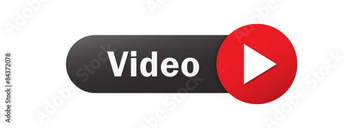 Cuadros en Lienzo  VIDEO vector black and red web button