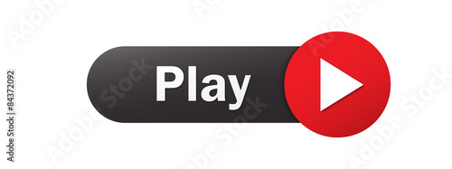 PLAY vector black and red web button Slika na platnu