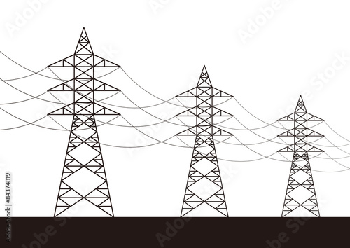 Valokuva  Transmission tower (electricity pylon) illustration