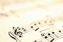 Macro Of Music Score For Backg...
