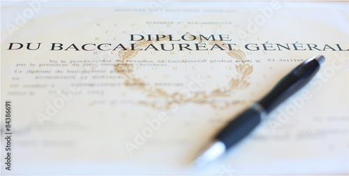 Foto  Diplôme de réussite au Baccalauréat général