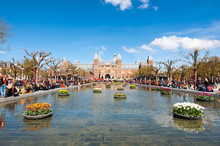 AMSTERDAM-APRIL 27: The Rijksmuseum From The Museumplein During King's Day On April 27, 2015. The Rijksmuseum Is The Most Important Art Museum In The Netherlands With Thousands Of Old Paintings.