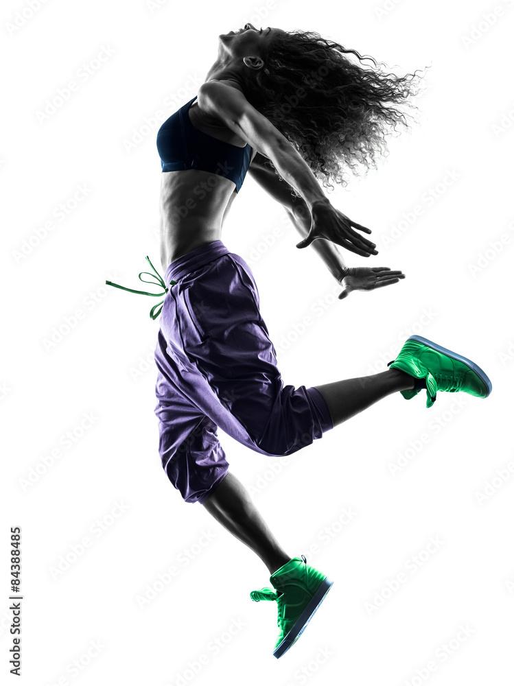 Fotografía Mujer bailarina baile zumba ejerce la silueta ...
