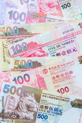 Photo  Hong Kong Dollar currency