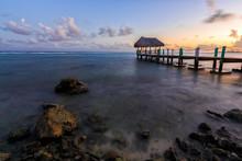 Sundown Over The Tropical Beach