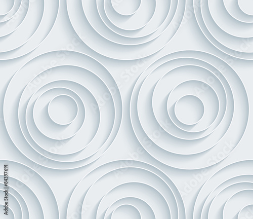 Fotomural White paper with outline extrude effect