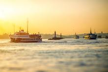 Bosphorus Strait In Istanbul