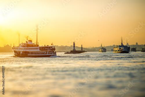 Bosphorus strait in Istanbul Fototapet