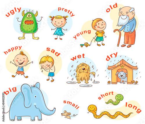 Photo Antonyms Cartoons
