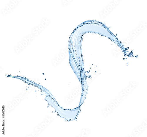 Papiers peints Eau Water splash isolated on white background