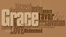 Grace Word Graphic Montage