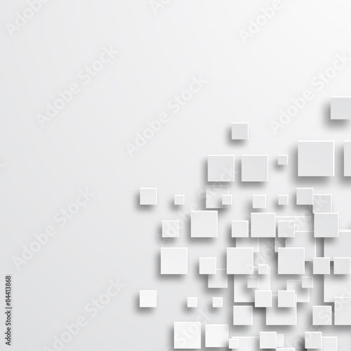 Fotografie, Obraz  Vector modern square abstract background.
