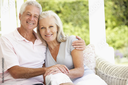 Fotografie, Obraz  Portrait Of Romantic Senior Couple