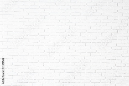 Fond de hotte en verre imprimé Brick wall Brick, white, wall.