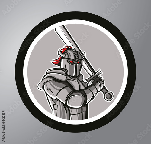 Photo  Knights Circle sticker