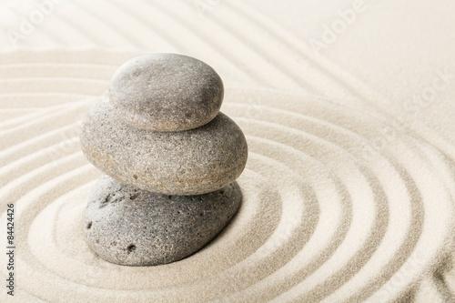 Photo Stands Stones in Sand Zen, garden, sand.