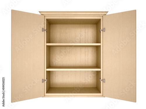 Photo 3d illustration of empty cupboard