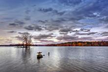 Autumn On Loch Raven In Maryland