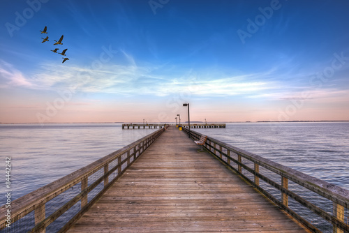 Pier into the Chesapeake Bay