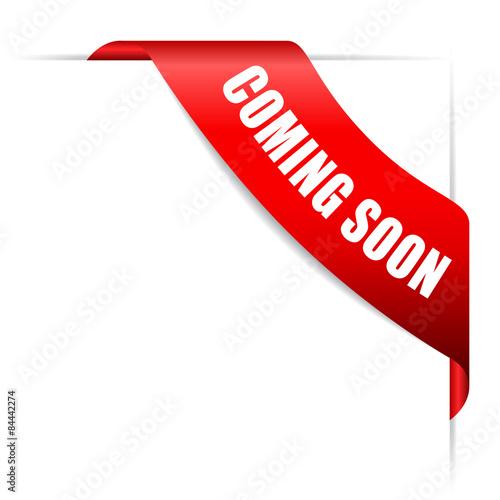 Photo Coming soon ribbon