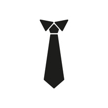 The Tie Icon. Necktie And Neck...