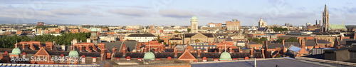 Photo  Morning panorama center of Dublin.