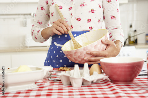 Fotografie, Obraz  Woman Baking In Kitchen