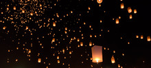 Sky Lanterns Festival Or Yi Pe...