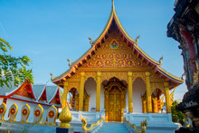 Buddhist Temple With Gold.Luan...