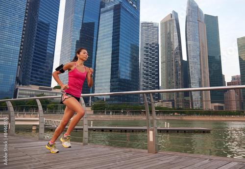 Photo  fitness woman running