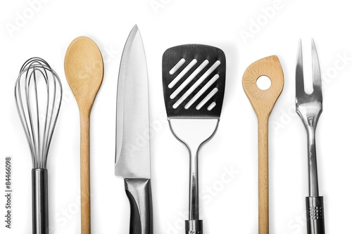 Photo  Kitchen Utensil, Wire Whisk, Spatula.