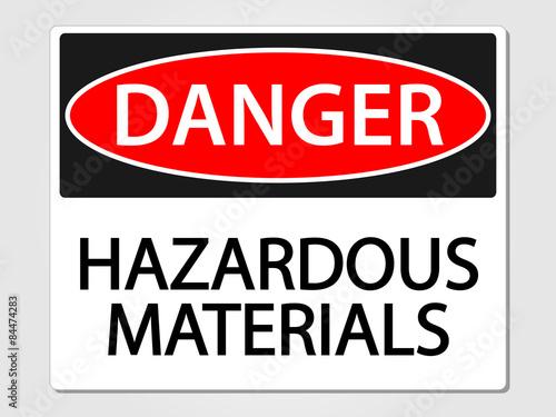 Fotografie, Obraz  Hazardous Materials Sign