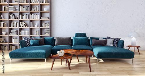 Soggiorno con divano – kaufen Sie diese Illustration und ...
