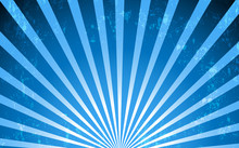 Vector Blue Radial Vintage Style Background