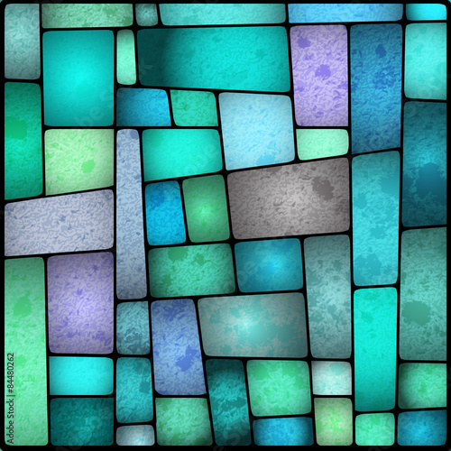 Fotografia Bright and colourful stained galss window