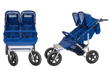 Baby Carriage For Twins Isolat...