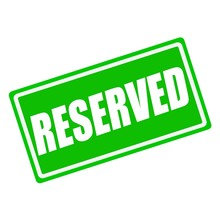Reserved White Stamp Text On Green Background
